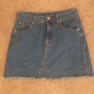 Boohoo Denim Skirt